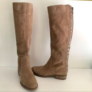 Vince Camuto  Tall Suede Stud Riding Boots